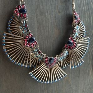 Badgely Mischka NWT Art Deco FanStatement Necklace